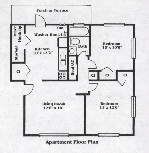 Highland Terrace Floorplans Landis Properties